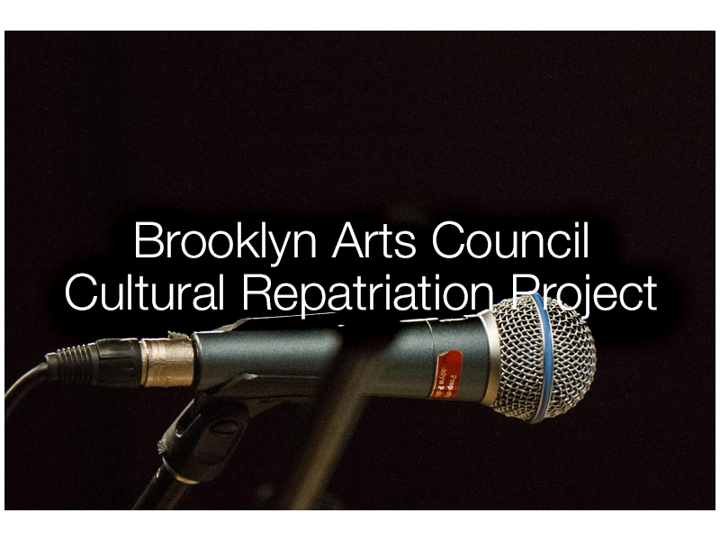 Brooklyn Arts Council Cultural Repatriation Project