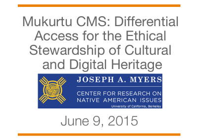 NAMSI 2015: Differential Access for the Ethical Stewardship of Cultural and Digital Heritage