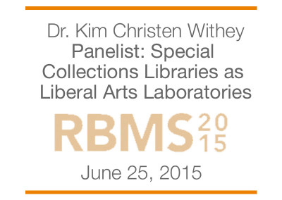 RBMS 2015 – Preserve the humanities conference