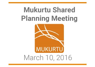 Mukurtu Shared Planning Meeting